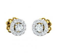 Natural Diamond Earring 0.41 CT / 2.20 gm Gold