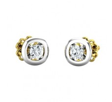 Natural Diamond Earring 0.32 CT / 2.10 gm Gold