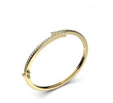 Natural Diamond Bracelet 1.20 CT / 18.50  gm Gold