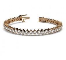 Natural Diamond Bracelets 6.75 CT / 17.60 gm Gold