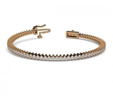 Natural Diamond Bracelets 2.58 CT / 11.92 gm Gold