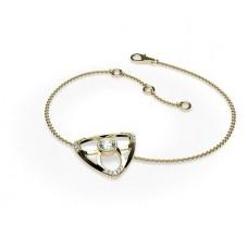 Natural Diamond Bracelets 0.346 CT / 3.50 gm Gold