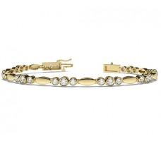 Natural Diamond Bracelets 1.84 CT / 13.85 gm Gold