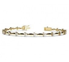 Natural Diamond Bracelets 1.03 CT / 9.65 gm Gold