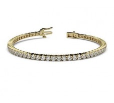 Natural Diamond Bracelets 3.90 CT / 10.68 gm Gold