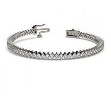 Natural Diamond Bracelets 3.50 CT / 13.50 gm Gold