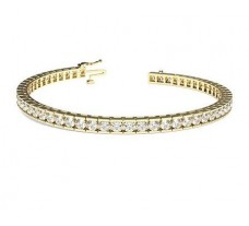 Natural Diamond Bracelets 3.99 CT / 17.85 gm Gold