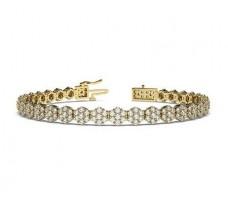 Natural Diamond Bracelets 3.49 CT / 17.65 gm Gold