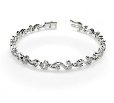 Natural Diamond Bracelets 0.54 CT / 9.60 gm Gold