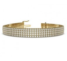 Natural Diamond Bracelets 7.08 CT / 34.65 gm Gold
