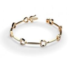 Natural Diamond Bracelets 1.29 CT / 9.85 gm Gold