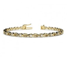 Natural Diamond Bracelets 0.54 CT / 12.45 gm Gold