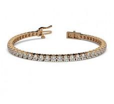 Natural Diamond Bracelets 5.30 CT / 13.04 gm Gold