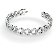 Natural Diamond Bracelets 1.54 CT / 17.50 gm Gold