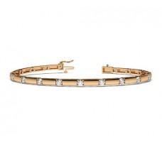 Natural Diamond Bracelets 1.80 CT / 15.26 gm Gold
