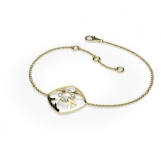Natural Diamond Bracelets 0.09 CT / 3.35 gm Gold