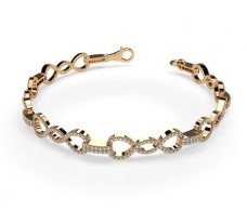 Natural Diamond Bracelets 1.57 CT / 11.30 gm Gold