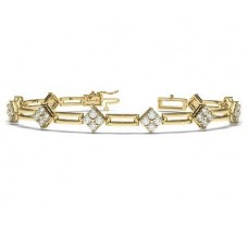 Natural Diamond Bracelets 2.00 CT / 13.89 gm Gold