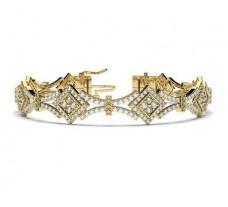 Natural Diamond Bracelets 2.91 CT / 17.35 gm Gold