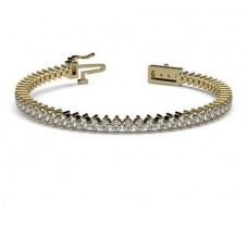 Natural Diamond Bracelets 4.34 CT / 12.29 gm Gold