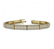 Natural Diamond Bracelets 4.32 CT / 10.65 gm Gold