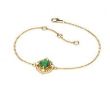 Natural Diamond & Gemstone Bracelets 0.51 CT / 4.75 gm Gold