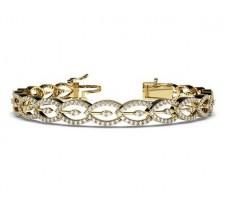 Natural Diamond Bracelets 2.55 CT / 20.08 gm Gold