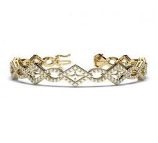 Natural Diamond Bracelets 2.88 CT / 19.50 gm Gold