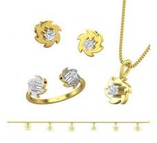 Natural Diamond Set - 0.71 CT / 10.41 gm Gold