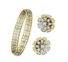 Natural Diamond Set - 3.22 CT / 25.80 gm Gold