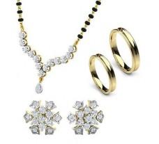 Natural Diamond Set - 1.18 CT / 13.18 gm Gold