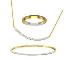 Diamond Set - 2.28 CT / 20.49 gm Gold