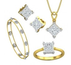 Natural Diamond Set - 2.17 CT / 16.57 gm Gold