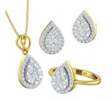 Natural Diamond Set - 1.97 CT / 11.45 gm Gold