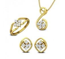 Diamond Pendant FullSet - 0.46 CT / 6.06 gm Gold