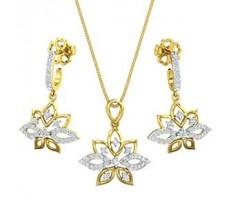 Natural Diamond Pendant Half Set - 0.96 CT / 6.75 gm Gold