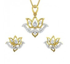 Natural Diamond Pendant Half Set - 0.81 CT / 6.39 gm Gold
