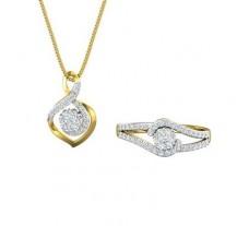 Diamond Pendant Half Set - 0.62 CT / 4.00 gm Gold