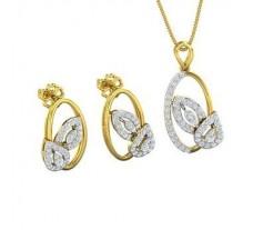 Diamond Pendant Half Set - 0.94 CT / 7.59 gm Gold