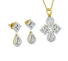 Diamond Pendant Half Set - 1.46 CT / 8.59 gm Gold