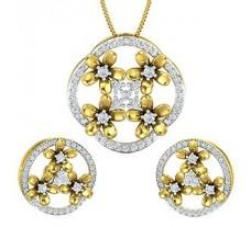 Diamond Pendant Half Set - 1.63 CT / 10.51 gm Gold