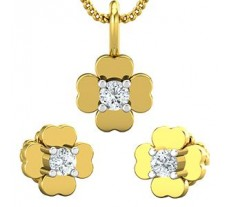 Diamond Pendant Half Set - 0.19 CT / 3.11 gm Gold