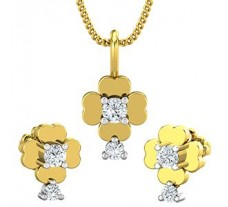 Diamond Pendant Half Set - 0.27 CT / 3.45 gm Gold