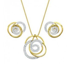 Diamond Pendant Half Set - 0.89 CT / 5.49 gm Gold