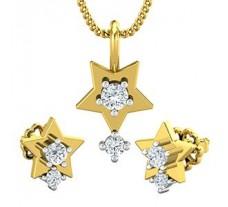 Diamond Pendant Half Set - 0.27 CT / 3.25 gm Gold