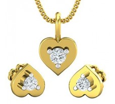 Diamond Pendant Half Set - 0.19 CT / 2.40 gm Gold