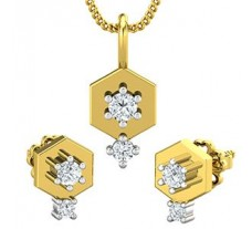 Diamond Pendant Half Set - 0.27 CT / 3.40 gm Gold
