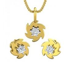 Diamond Pendant Half Set - 0.19 CT / 3.10 gm Gold