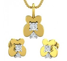 Diamond Pendant Half Set - 0.27 CT / 3.55 gm Gold