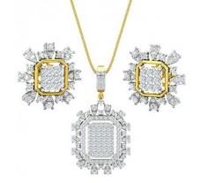 Natural Diamond Pendant Half Set - 2.26 CT / 9.50 gm Gold